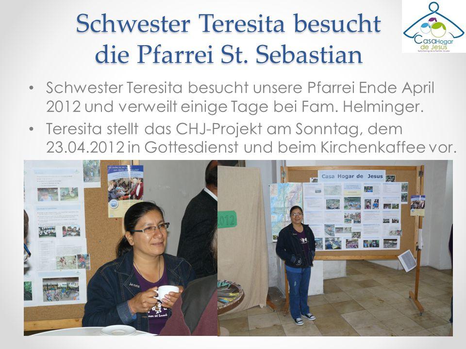 Schwester Teresita besucht die Pfarrei St. Sebastian