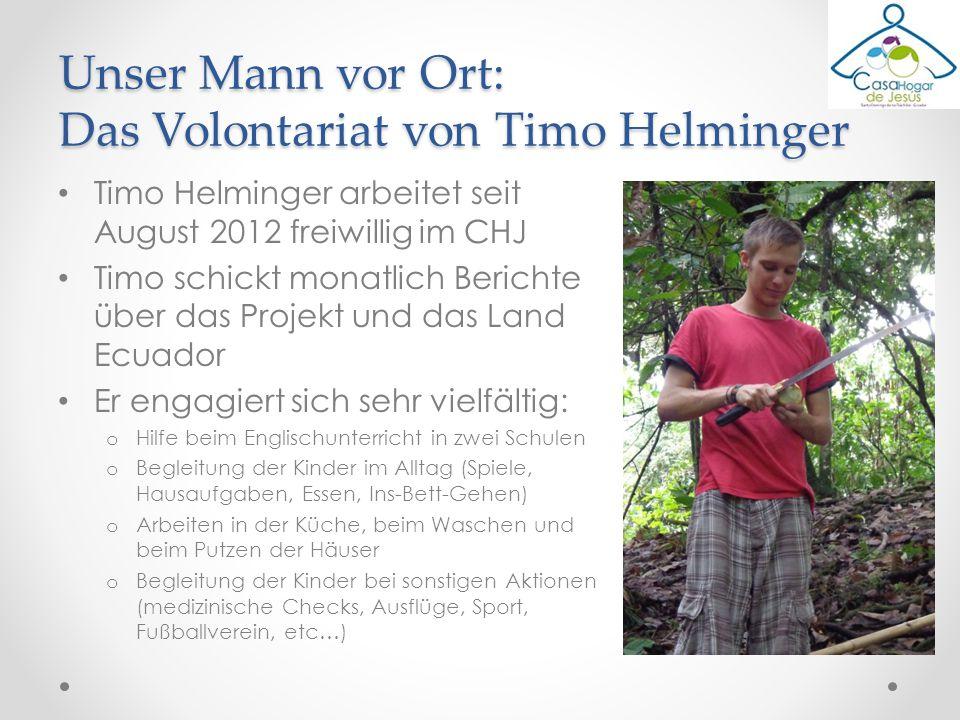 Unser Mann vor Ort: Das Volontariat von Timo Helminger
