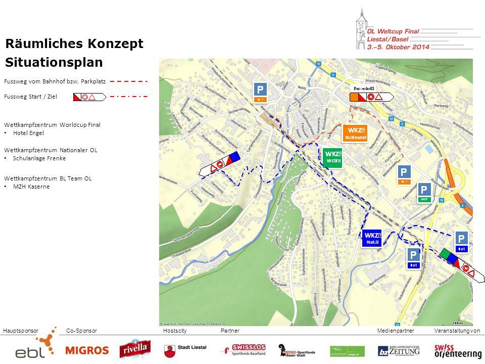 Räumliches Konzept Situationsplan Fussweg vom Bahnhof bzw. Parkplatz