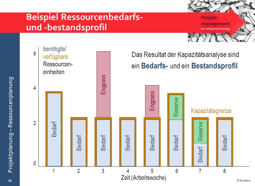 Beispiel Ressourcenbedarfs- und -bestandsprofil