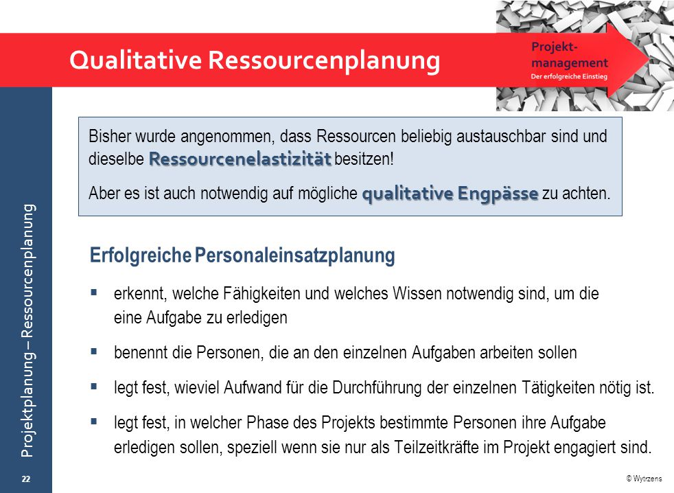 Qualitative Ressourcenplanung