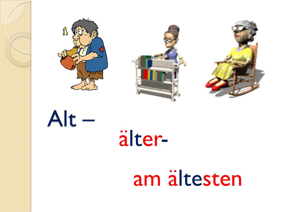 Alt – älter- am ältesten