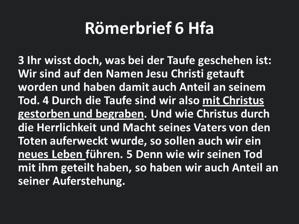 Römerbrief 6 Hfa