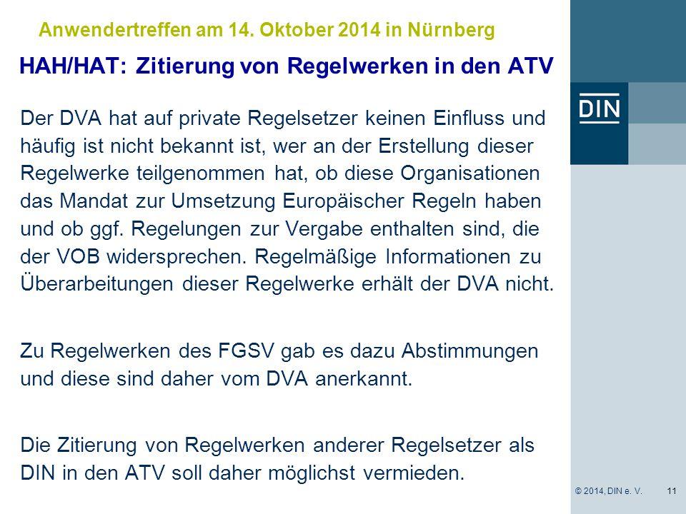 HAH/HAT: Zitierung von Regelwerken in den ATV