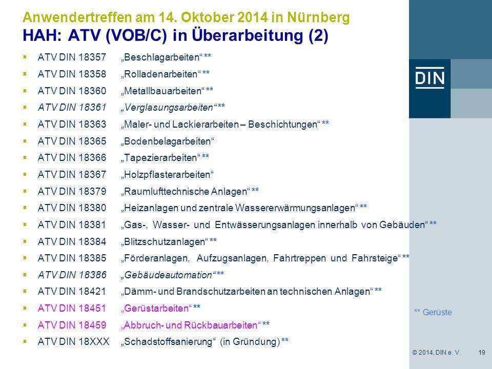 HAH: ATV (VOB/C) in Überarbeitung (2)