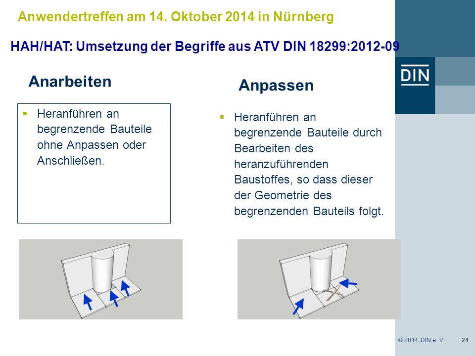 Anarbeiten Anpassen Anwendertreffen am 14. Oktober 2014 in Nürnberg