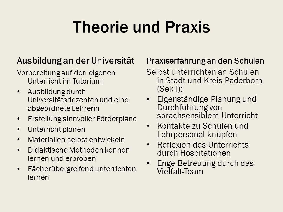Theorie und Praxis Ausbildung an der Universität
