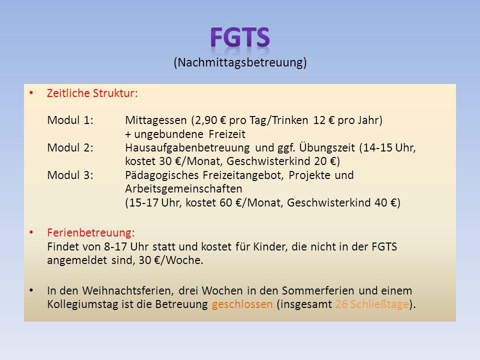 FGTS (Nachmittagsbetreuung)