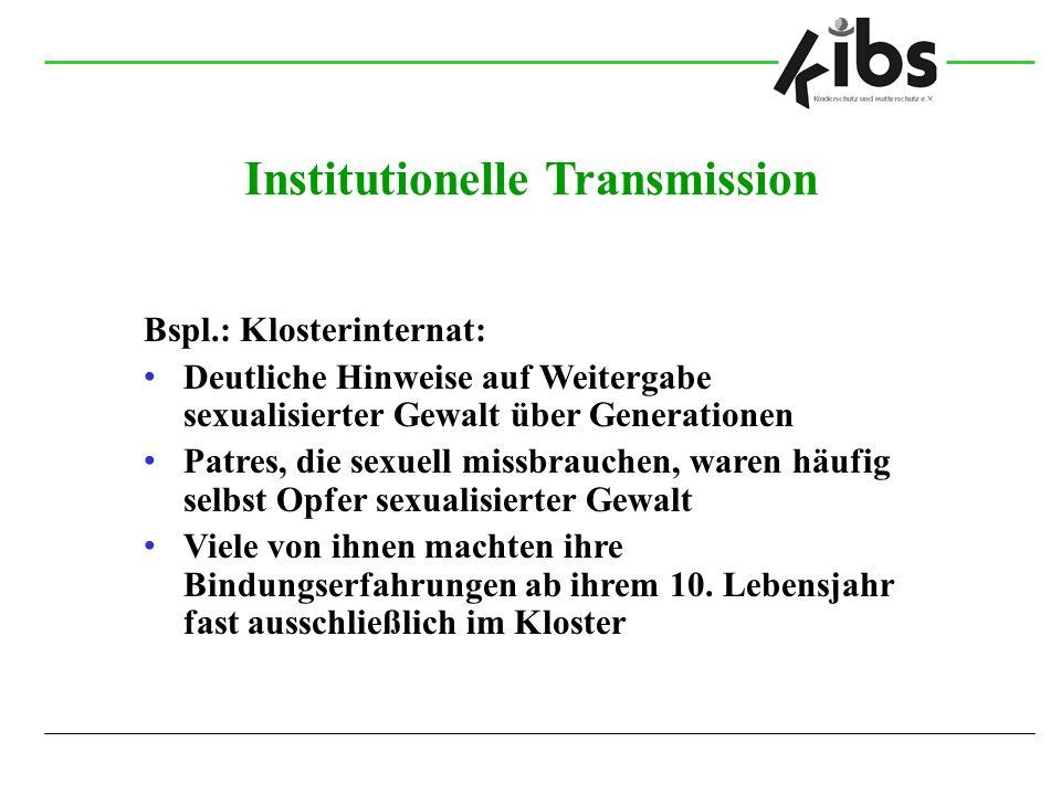 Institutionelle Transmission