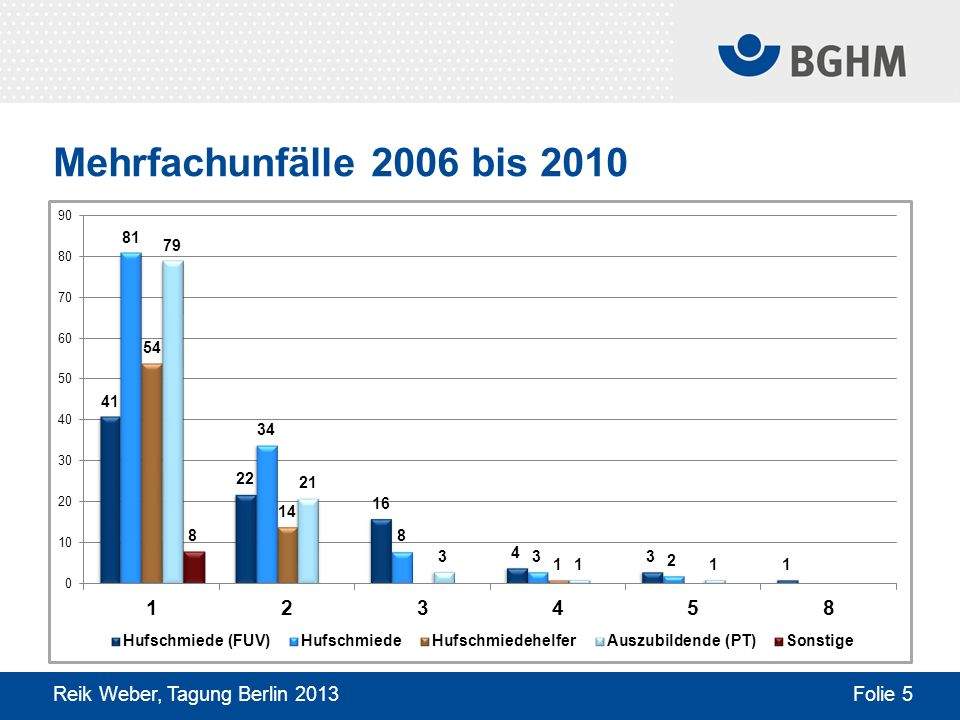 Mehrfachunfälle 2006 bis 2010 Reik Weber, Tagung Berlin 2013