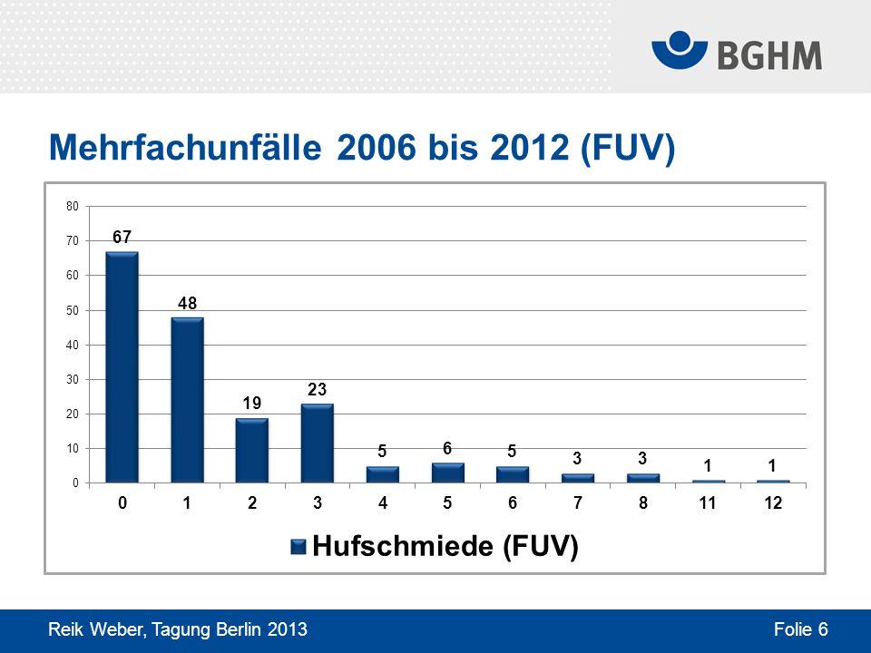 Mehrfachunfälle 2006 bis 2012 (FUV)