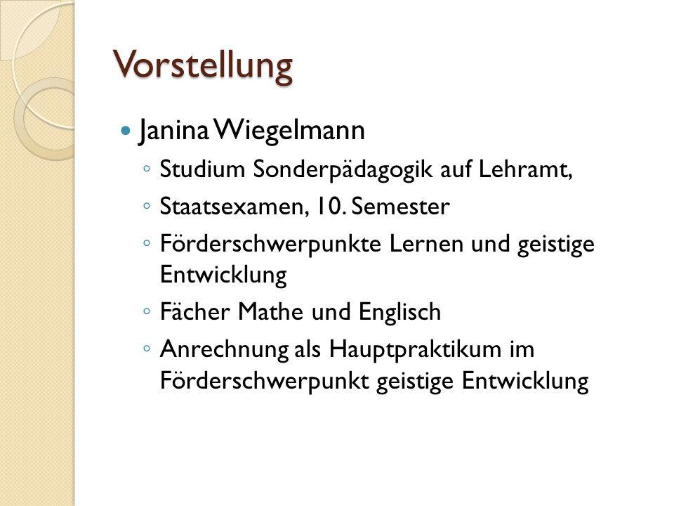 Vorstellung Janina Wiegelmann Studium Sonderpädagogik auf Lehramt,