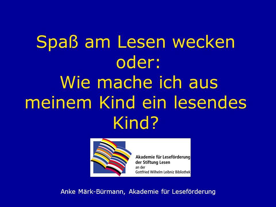 Anke Märk-Bürmann, Akademie für Leseförderung