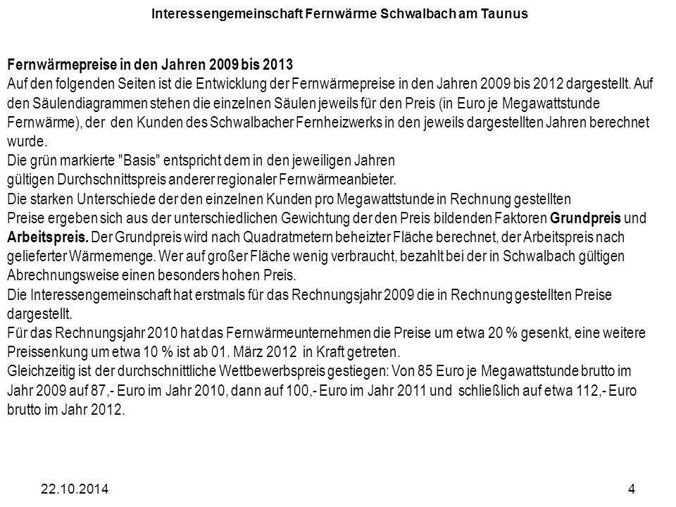 Interessengemeinschaft Fernwärme Schwalbach am Taunus den 18.4.2013