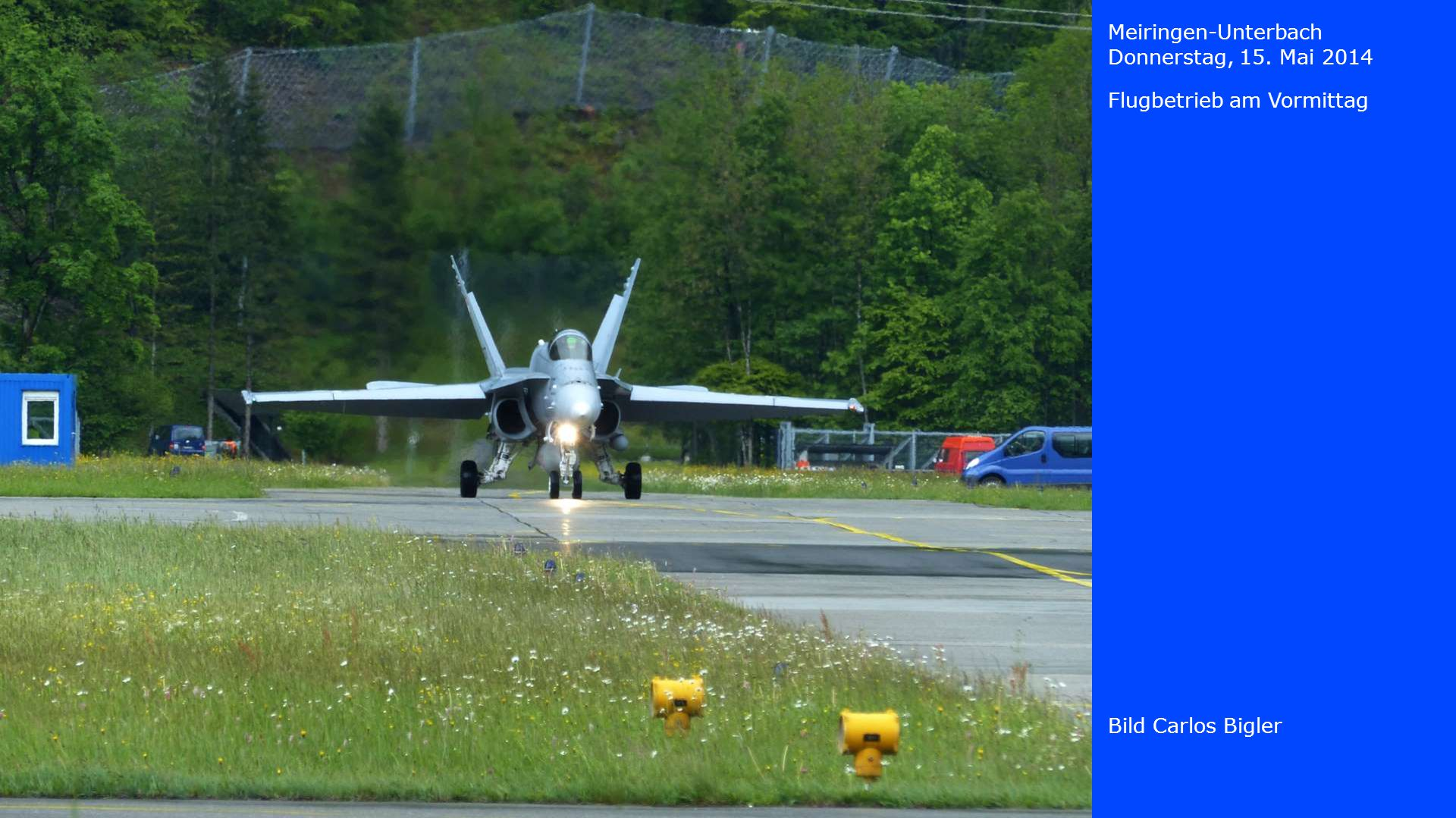 Meiringen-Unterbach Donnerstag, 15. Mai 2014 Flugbetrieb am Vormittag Bild Carlos Bigler