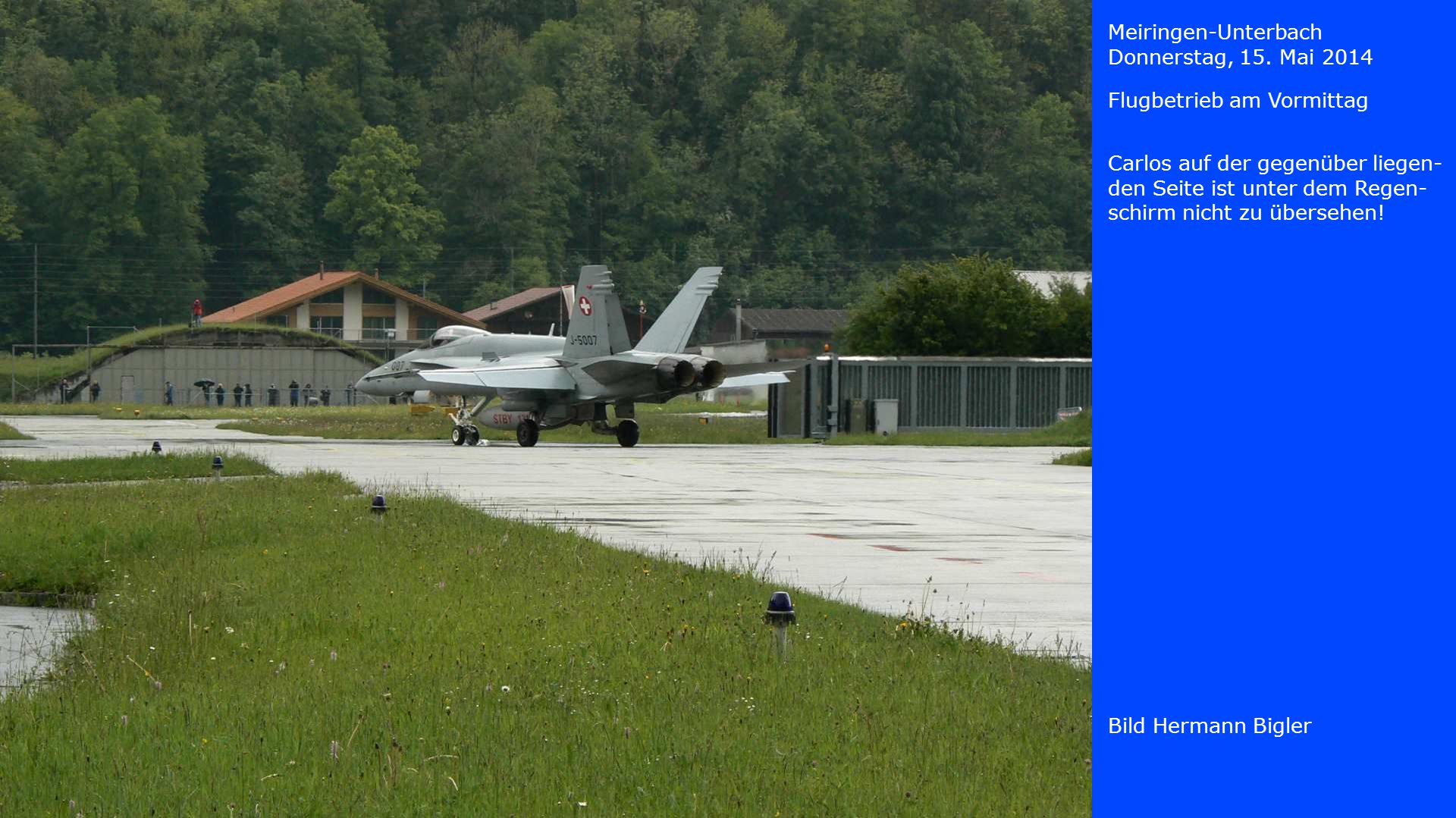 Meiringen-Unterbach Donnerstag, 15. Mai 2014. Flugbetrieb am Vormittag.
