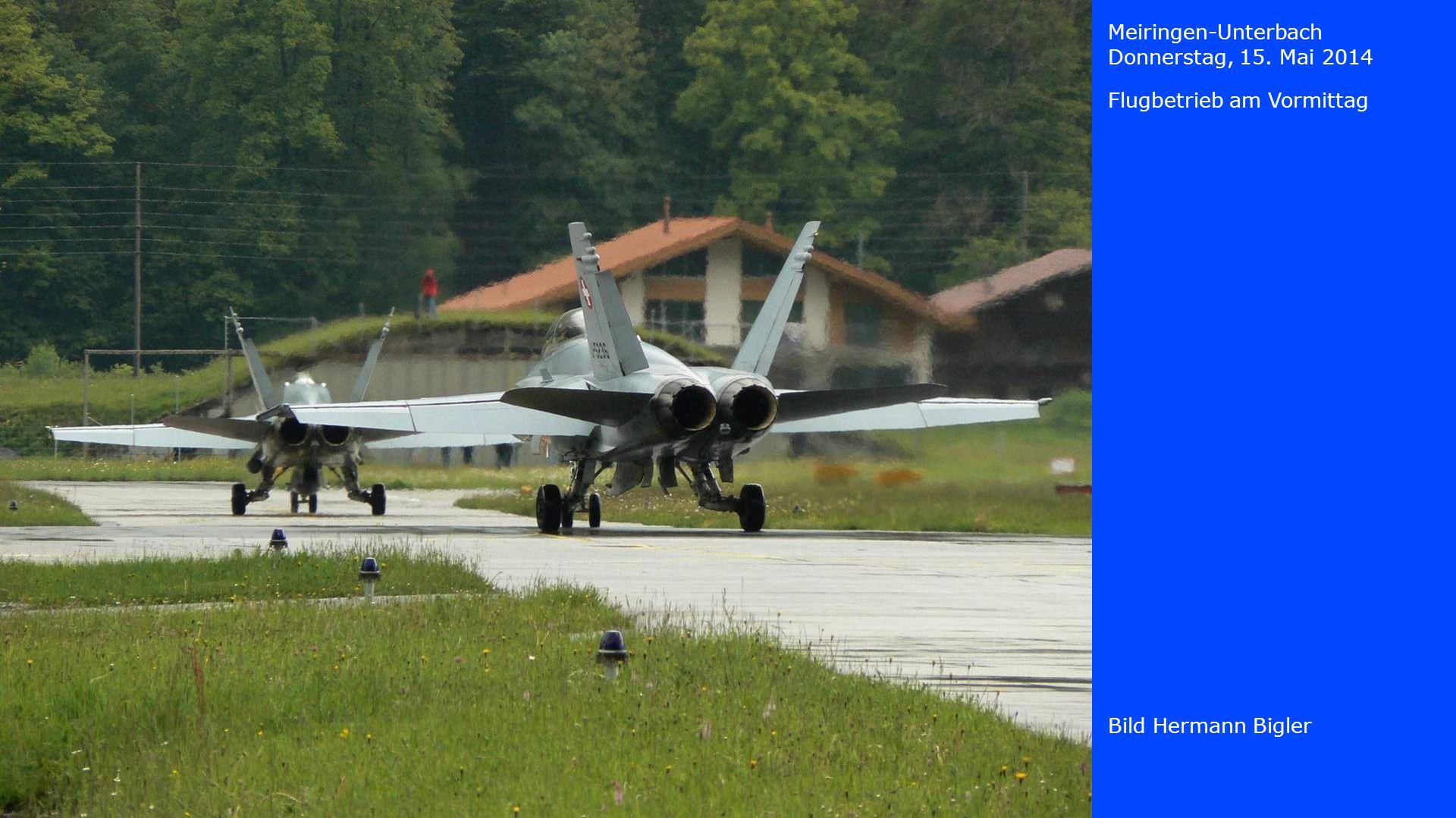 Meiringen-Unterbach Donnerstag, 15. Mai 2014 Flugbetrieb am Vormittag Bild Hermann Bigler