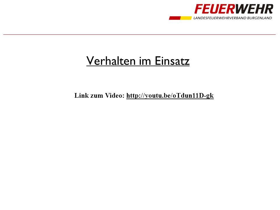 Verhalten im Einsatz Link zum Video: http://youtu.be/oTdun11D-gk
