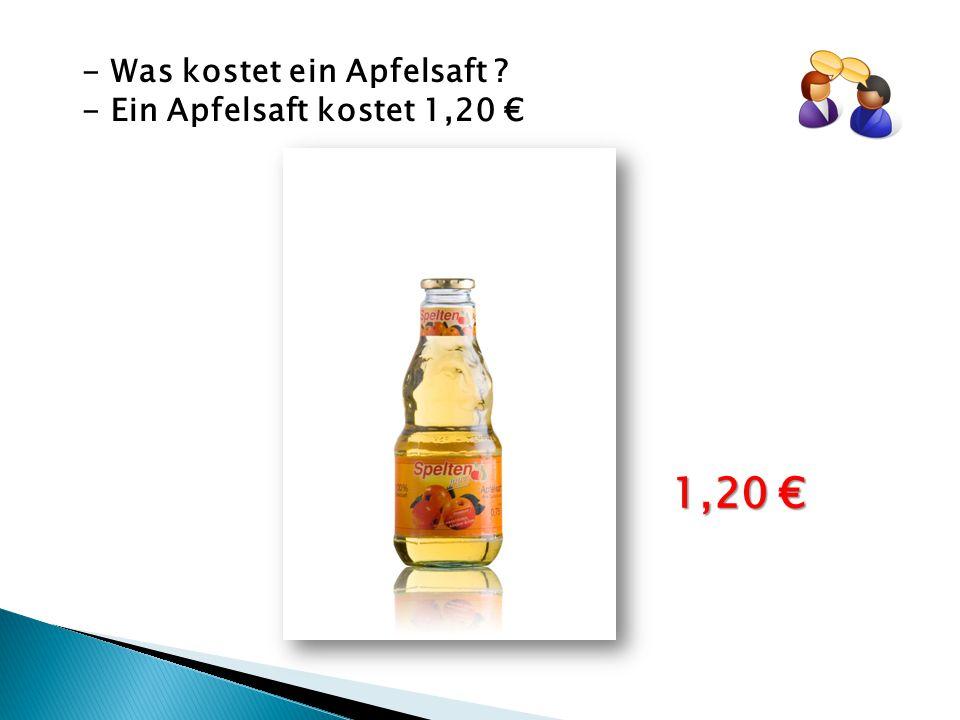 - Was kostet ein Apfelsaft