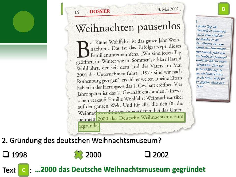 2. Gründung des deutschen Weihnachtsmuseum