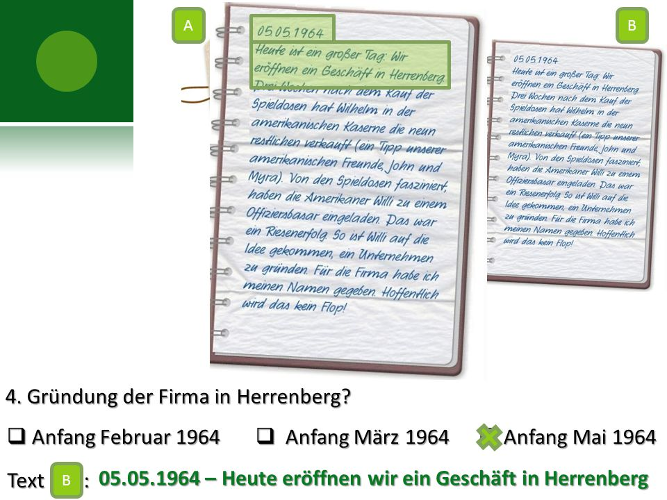 4. Gründung der Firma in Herrenberg