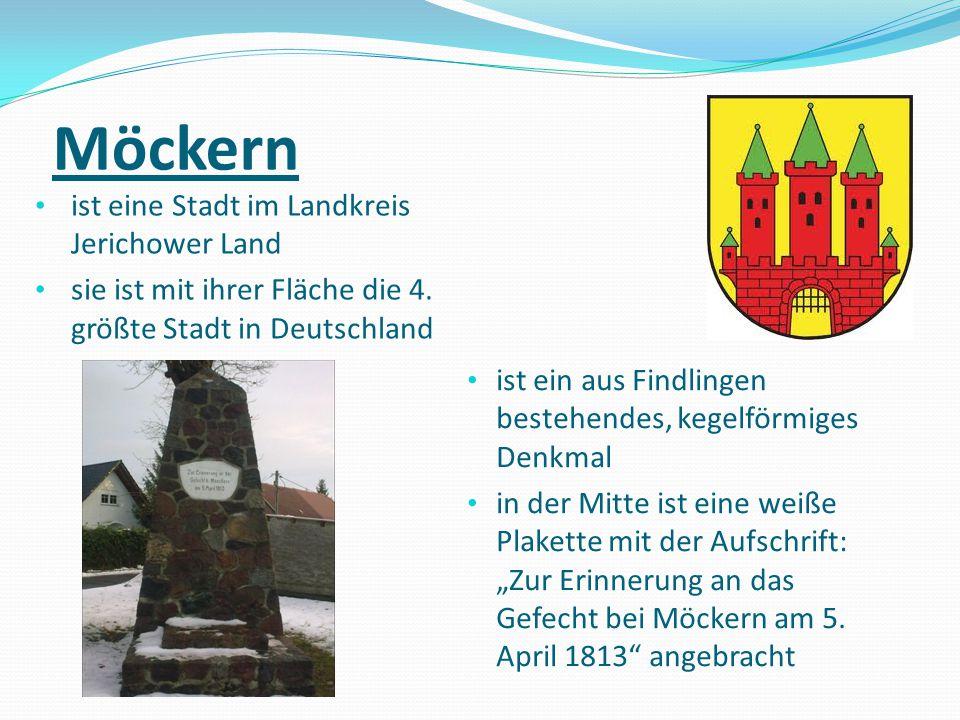 Möckern ist eine Stadt im Landkreis Jerichower Land
