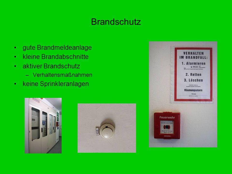 Brandschutz gute Brandmeldeanlage kleine Brandabschnitte