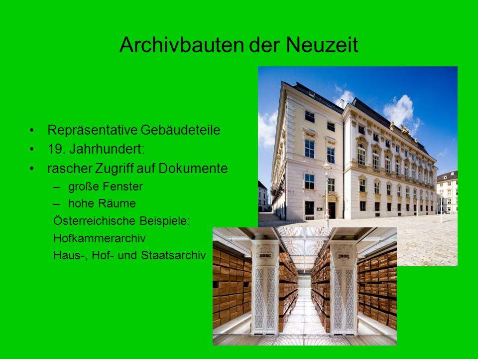Archivbauten der Neuzeit