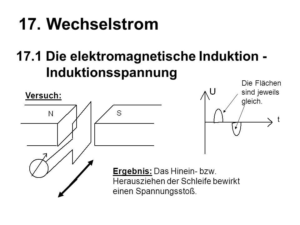 17.1 Die elektromagnetische Induktion - Induktionsspannung