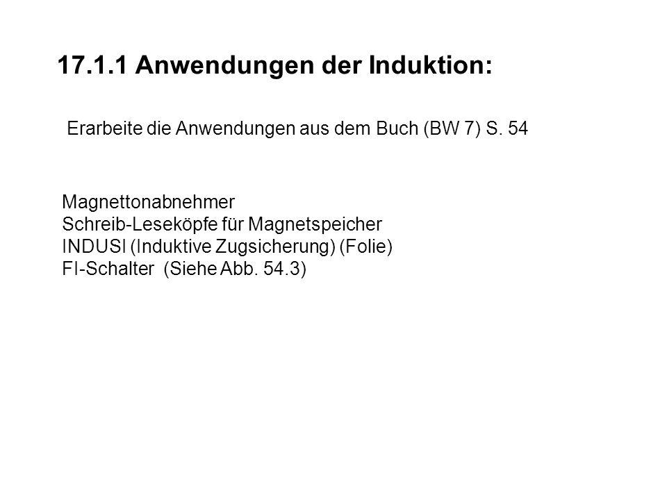 17.1.1 Anwendungen der Induktion: