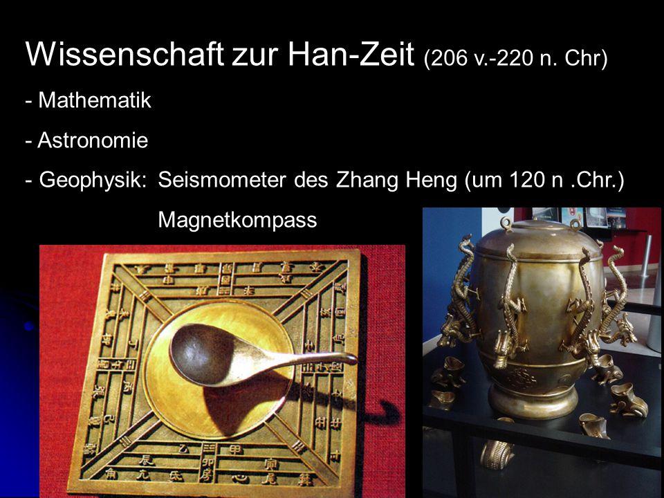 Wissenschaft zur Han-Zeit (206 v.-220 n. Chr)