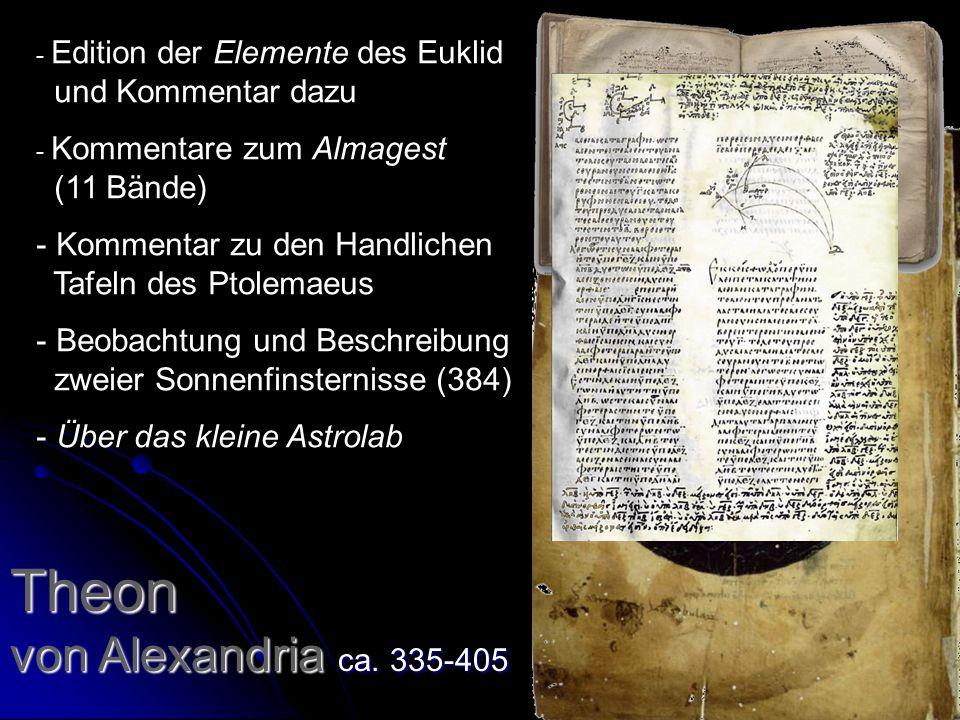 Theon von Alexandria ca. 335-405