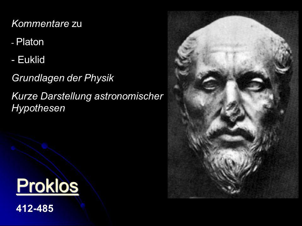 Proklos Kommentare zu Euklid Grundlagen der Physik