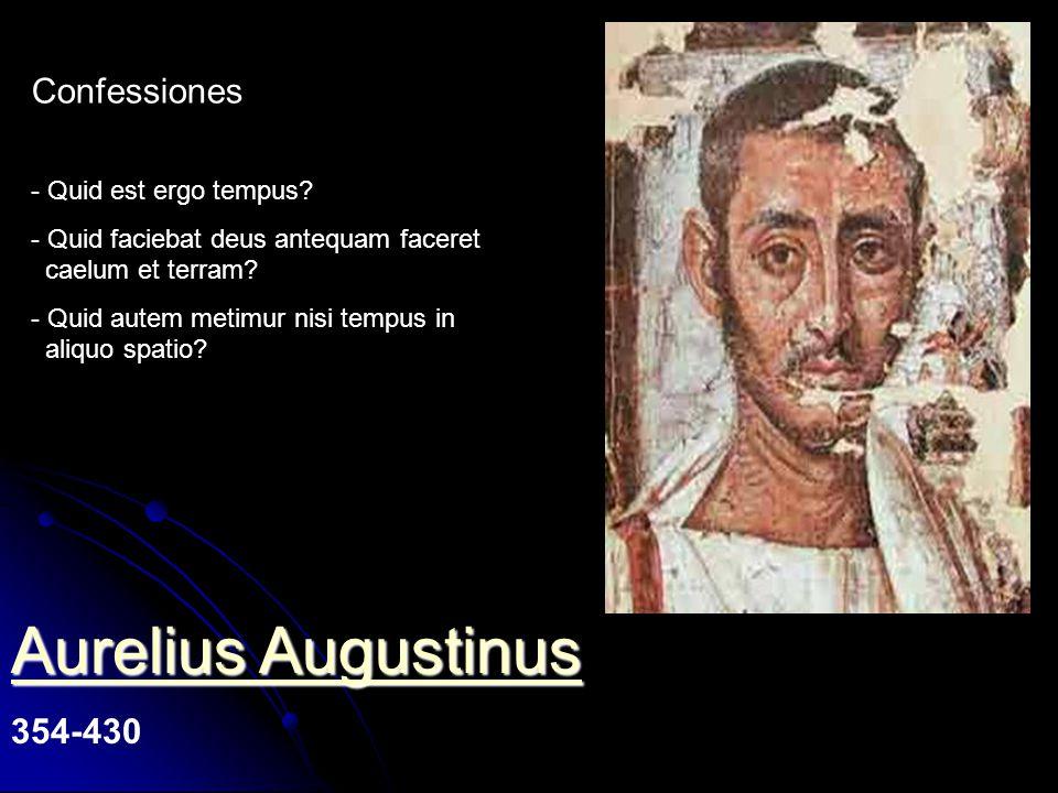 Aurelius Augustinus Confessiones 354-430 Quid est ergo tempus