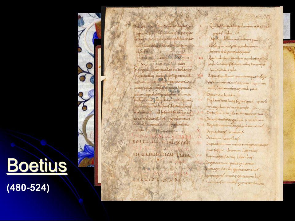 Boetius (480-524) Boetius lehrend 1385 MS Hunter 374 V.1.11 folio 4r . De consolatione philosophiae.