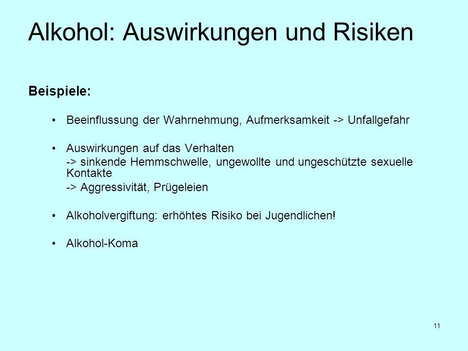 Alkohol: Auswirkungen und Risiken