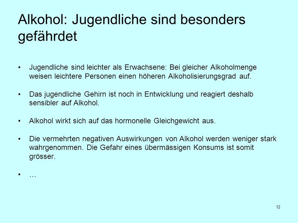 Alkohol: Jugendliche sind besonders gefährdet