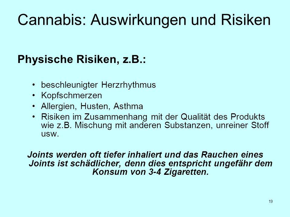 Cannabis: Auswirkungen und Risiken