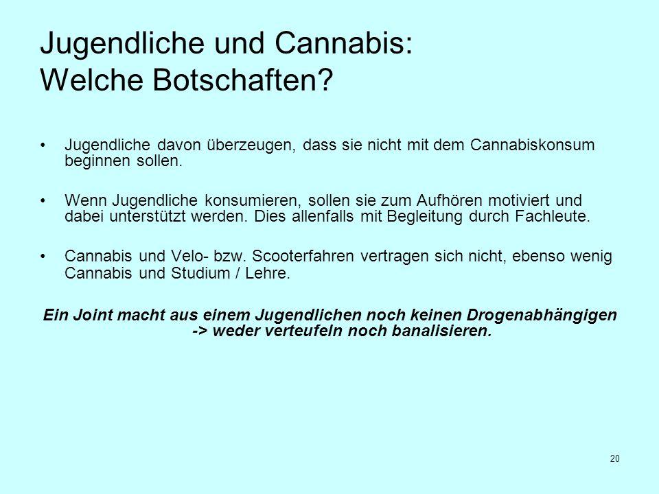 Jugendliche und Cannabis: Welche Botschaften
