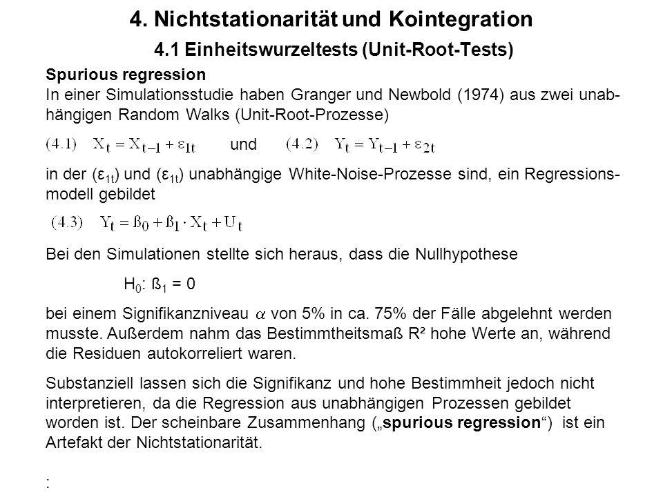4. Nichtstationarität und Kointegration