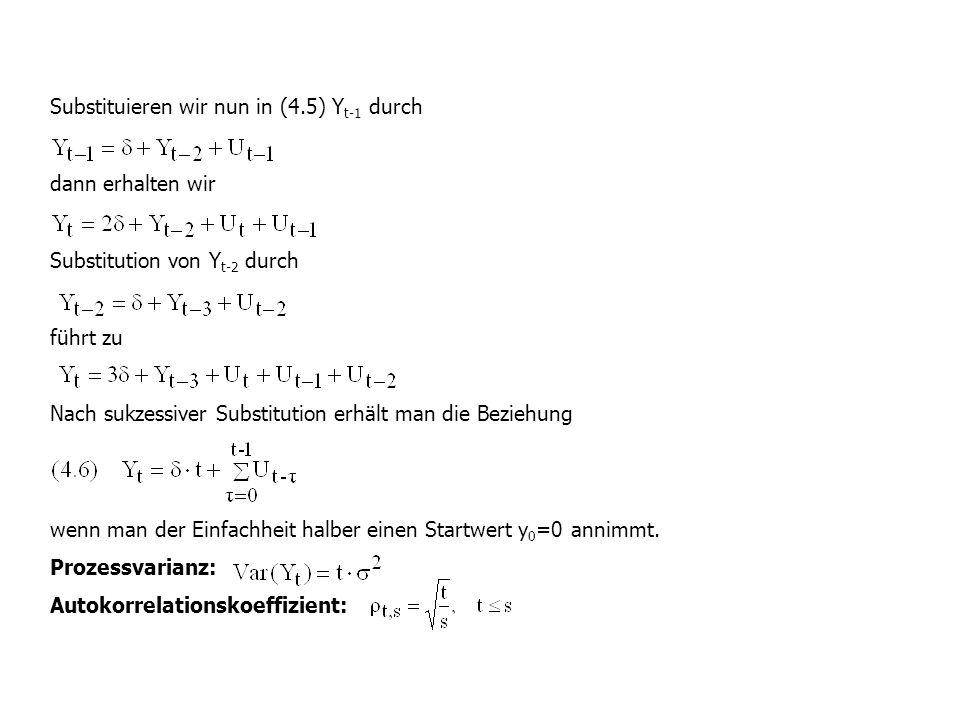 Substituieren wir nun in (4.5) Yt-1 durch