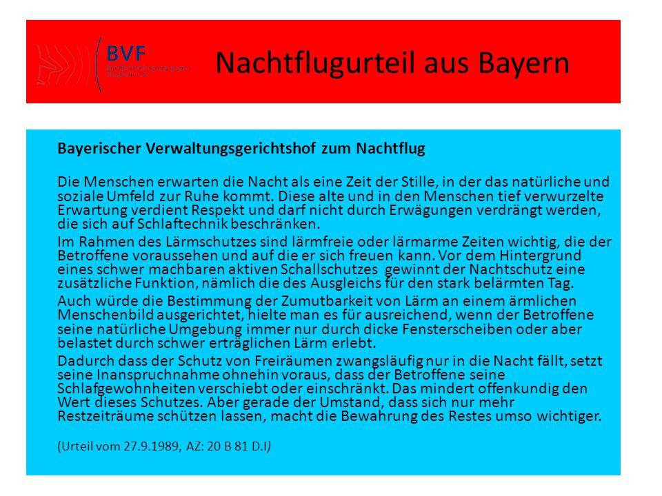 Nachtflugurteil aus Bayern