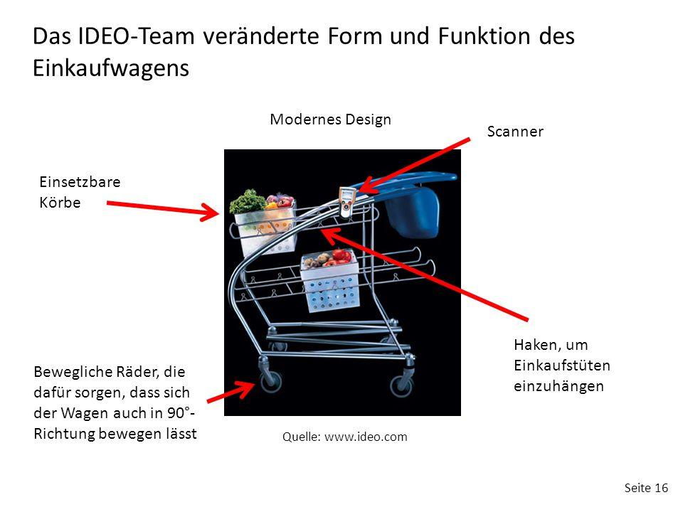 Das IDEO-Team veränderte Form und Funktion des Einkaufwagens