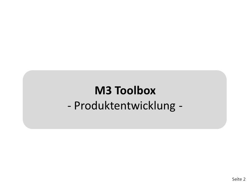 M3 Toolbox - Produktentwicklung -