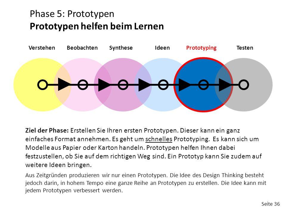 Prototypen helfen beim Lernen