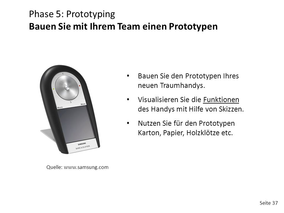 Bauen Sie mit Ihrem Team einen Prototypen