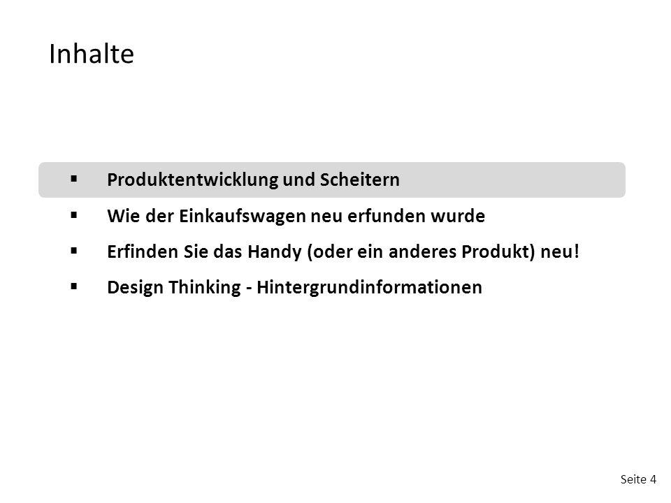 Inhalte Produktentwicklung und Scheitern