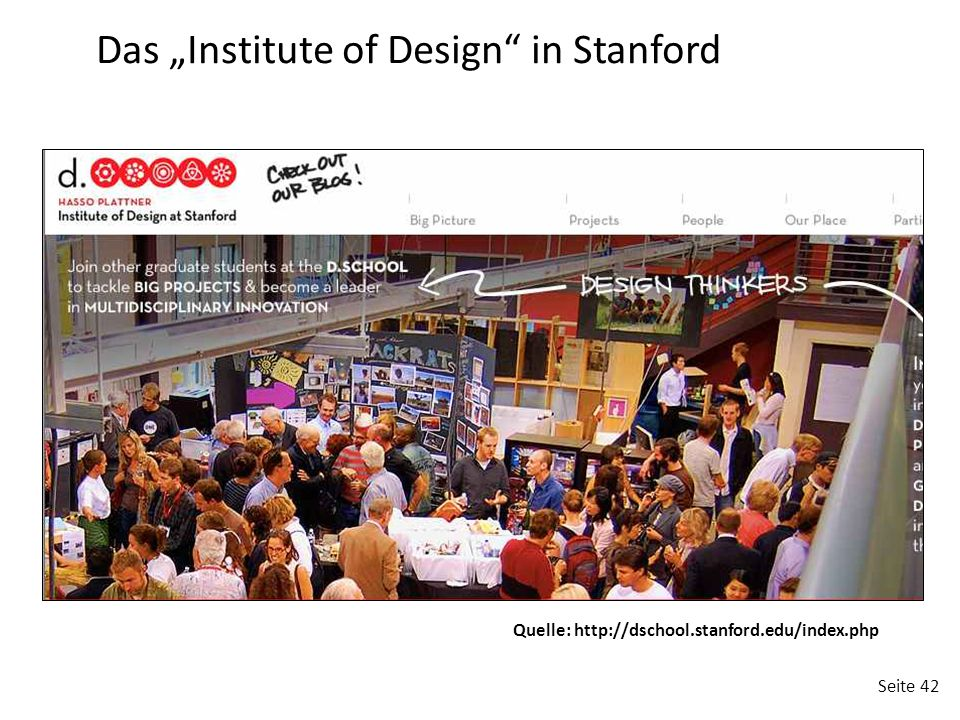 "Das ""Institute of Design in Stanford"