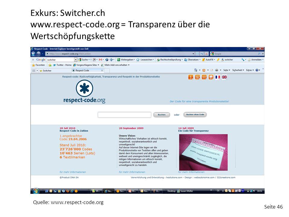 www.respect-code.org = Transparenz über die Wertschöpfungskette