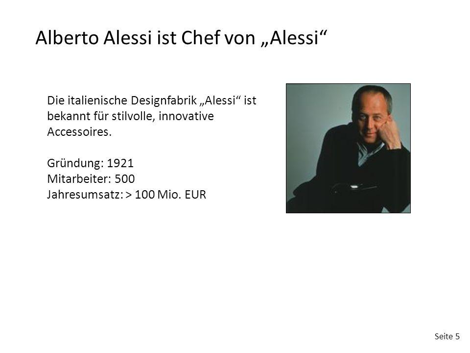 """Alberto Alessi ist Chef von """"Alessi"""